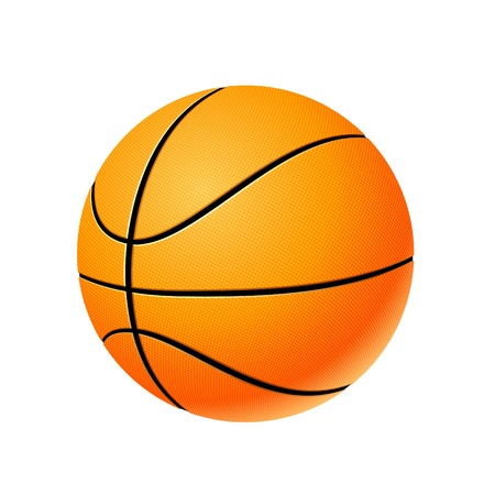bouncing: High detailed basketball ball isolated on white background, vector illustration