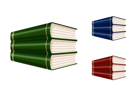 bibliophile: Set of books of various color