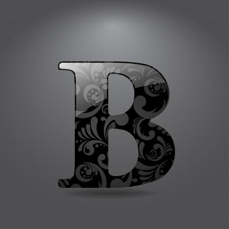 光沢のある手紙 B ベクトル イラスト