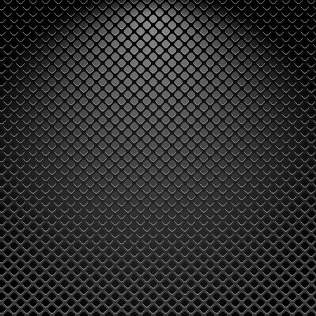 Metallic texture seamless pattern, vector background Vector