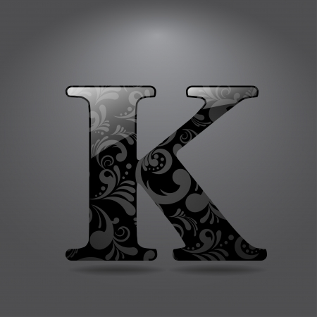 buchstabe k: Glossy Buchstaben K Vector illustration