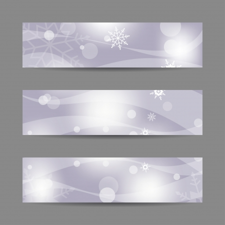 Set of horizontal Christmas banners  Abstract illustration Stock Vector - 16236032