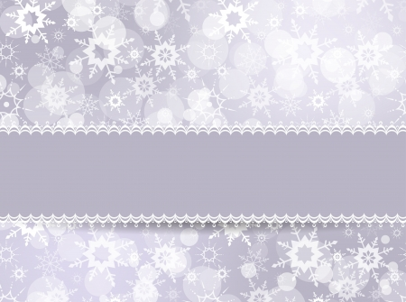 Template frame for Christmas card in retro style Stock Vector - 16334915