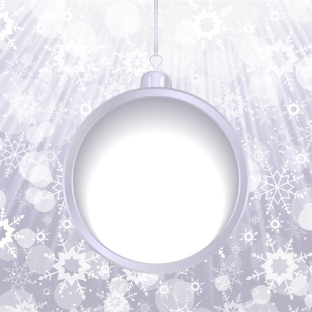Abstract Christmas balls cut the paper Stock Vector - 16477909