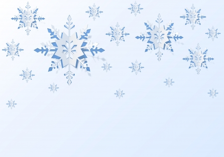 Christmas background with paper snowflakes Stock Vector - 16477905