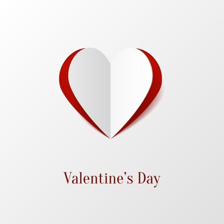 saint valentin coeur: Coeur Papiers de cr�ation Illustration