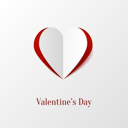 tag valentine: Creative paper heart Illustration