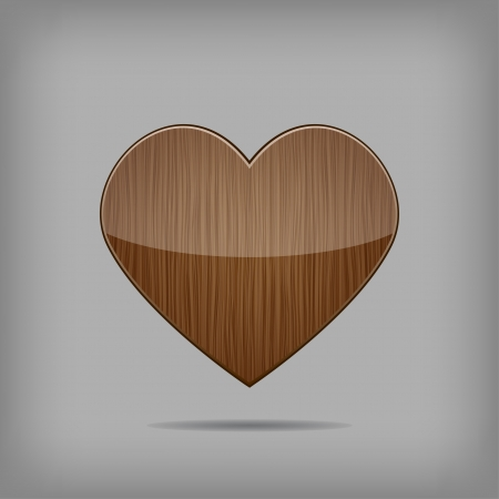 Creative vector wooden heart Stock Vector - 17449148