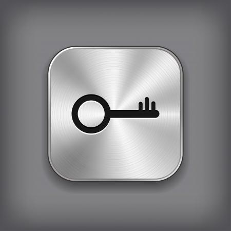 El icono de llave - metal vector App botón