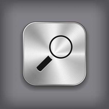 Search icon - vector metal app button Vector