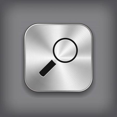 Search icon - vector metal app button Stock Vector - 18226120