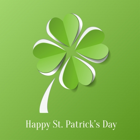 four fourleaf: St  Patricks day background with clover Illustration