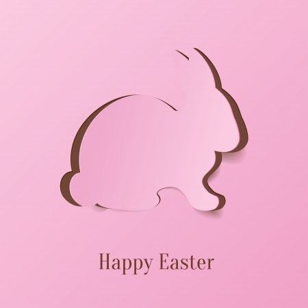 bunny ears: Creative Easter rabbit  Vector Illustration  Illustration
