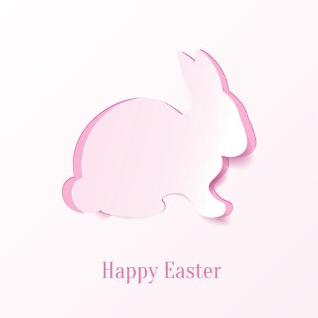 conejo pascua: Creativa conejo de Pascua. Vector Illustration. Vectores