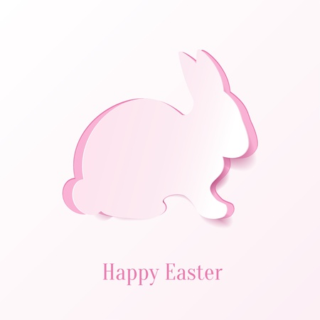 Creative Easter rabbit. Vector Illustration. Vector