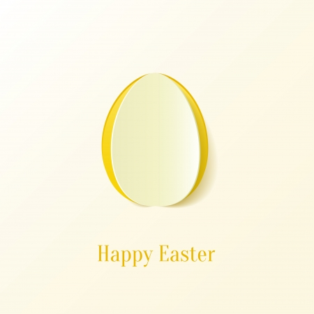 Creative Easter egg. Vector Illustration. Vector
