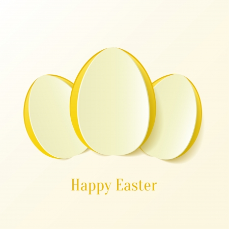Creative Easter eggs. Vector Illustration. Vector