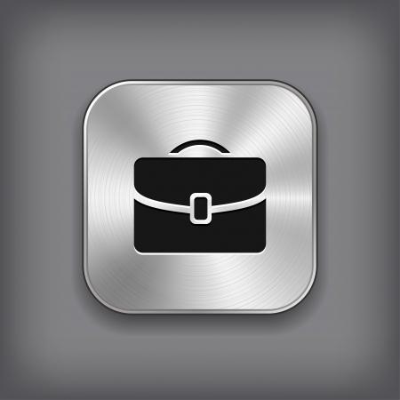 Icône de cas - bouton app métallique de vecteur