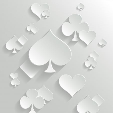 cartas de poker: Resumen de vectores de fondo con elementos de juego de tarjetas