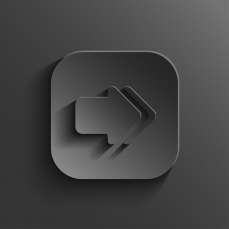 square buttons: Arrow icon - vector black app button with shadow Illustration