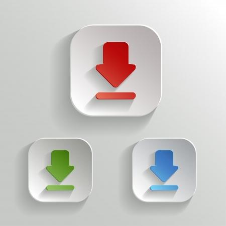Download icon - vector app buttons color set Vector