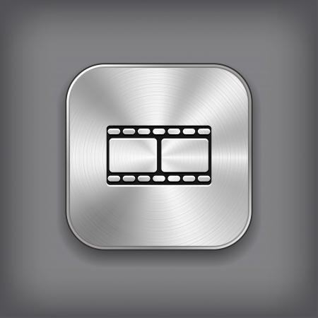 Film icon - vector metal app button Vector