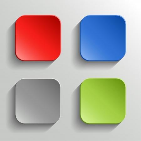 Conjunto de botones de colores Ilustración de vector