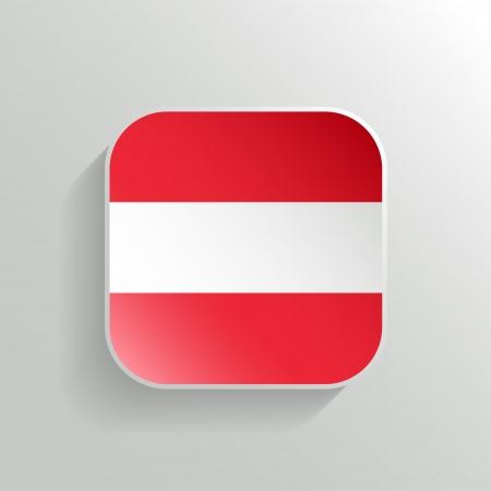 Vector Button - Austria Flag Icon on White Background Vector