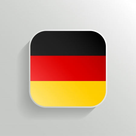 Vector Button - Germany Flag Icon on White Background Vector
