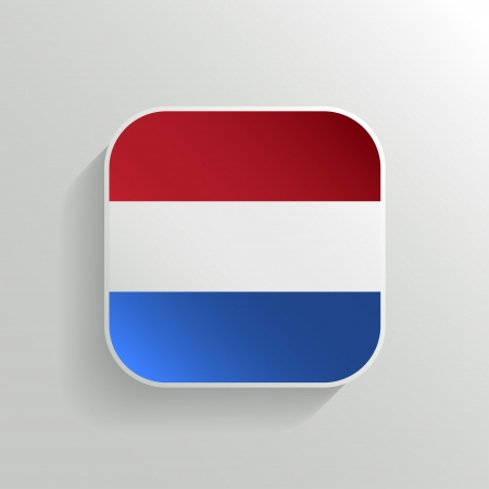 Vector Button - Netherlands Flag Icon on White Background Stock Vector - 20988876
