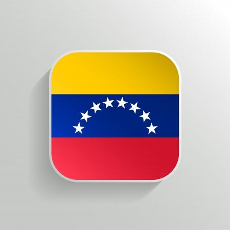 venezuelan: Vector Button - Venezuela Icono de la bandera en el fondo blanco