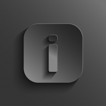 info button: Info icon - vector black app button with shadow Illustration