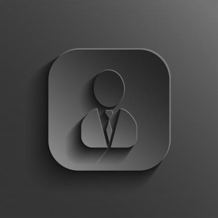 User icon - vector black app button with shadow Vector