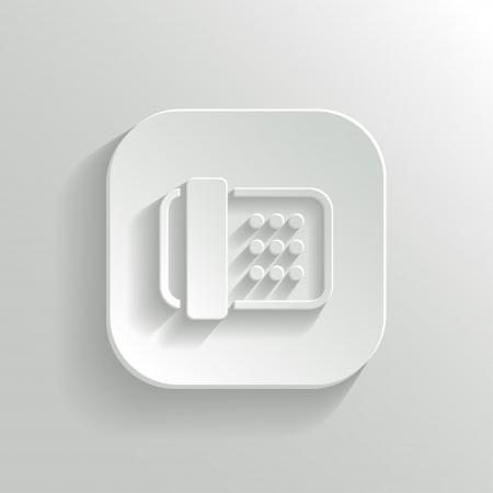 faxger�t: Fax-Symbol - vektor wei� App Button mit Schatten Illustration