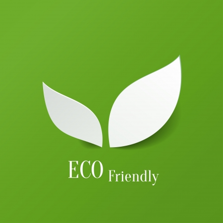 Green eco friendly background - abstract paper leaves Stock Vector - 20989152
