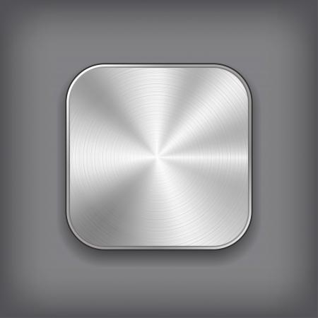 ベクトル アプリ金属アイコン。
