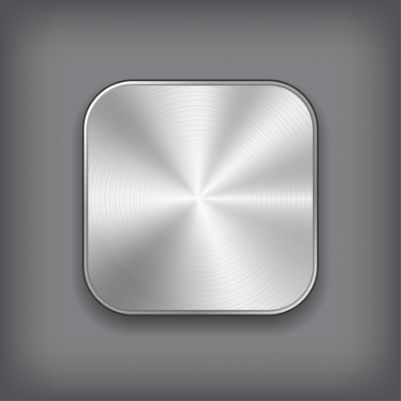 Vector Metall App Icon. Standard-Bild - 20989158