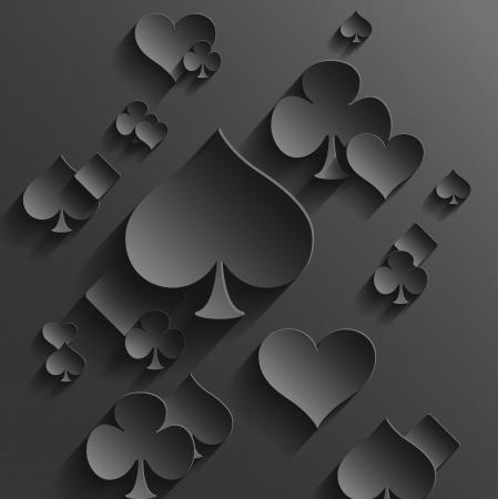cartas de poker: Resumen de vectores de fondo con las cartas Elementos
