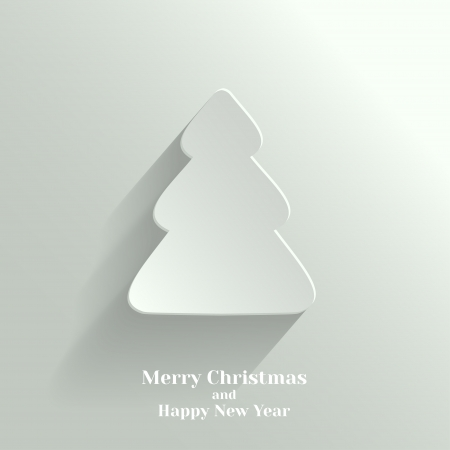 Creative White Christmas Tree  Vector Illustration  Vector