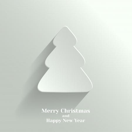 Creative White Christmas Tree  Vector Illustration Stock Vector - 22125590