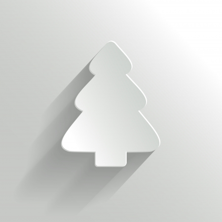 Creative White Christmas Tree  Vector Illustration  Иллюстрация