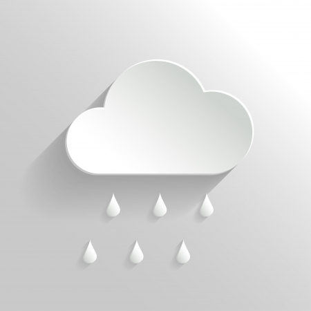 Abstract Vector Cloud and Rain Icon  Vector