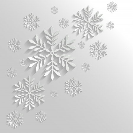 Abstract Background with Snowflakes Stock Vector - 22126792