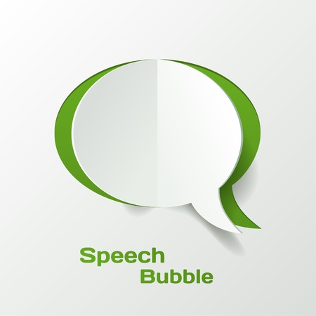 Abstract Vector Paper Cut Speech Bubble