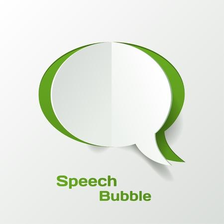 ideas brillantes: Resumen de vectores de corte del papel burbuja del discurso