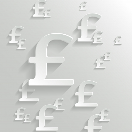 british pound: Abstract Background with Pound  Symbol.