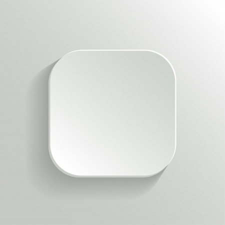 Vector White Blank Button - App Icon Template