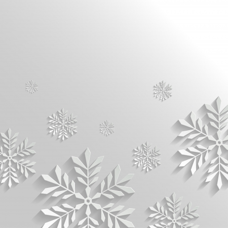 Abstract Background with Snowflakes Stock Vector - 22795357