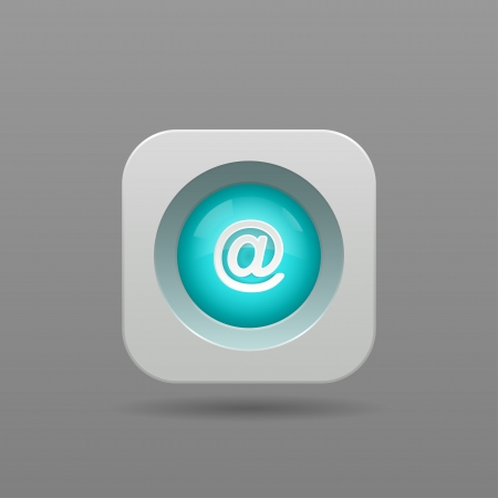 Mail Button - Vector App Icon Vector