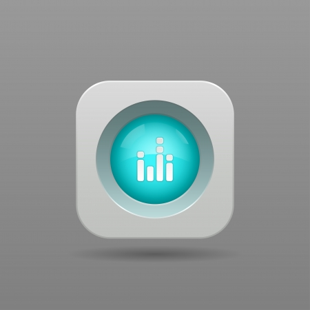 Equalizer Button - Vector App Icon Vector